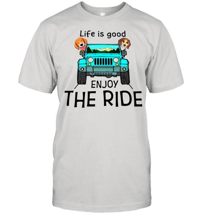 Beagle dog Life is good enioy the ride shirt Classic Men's T-shirt