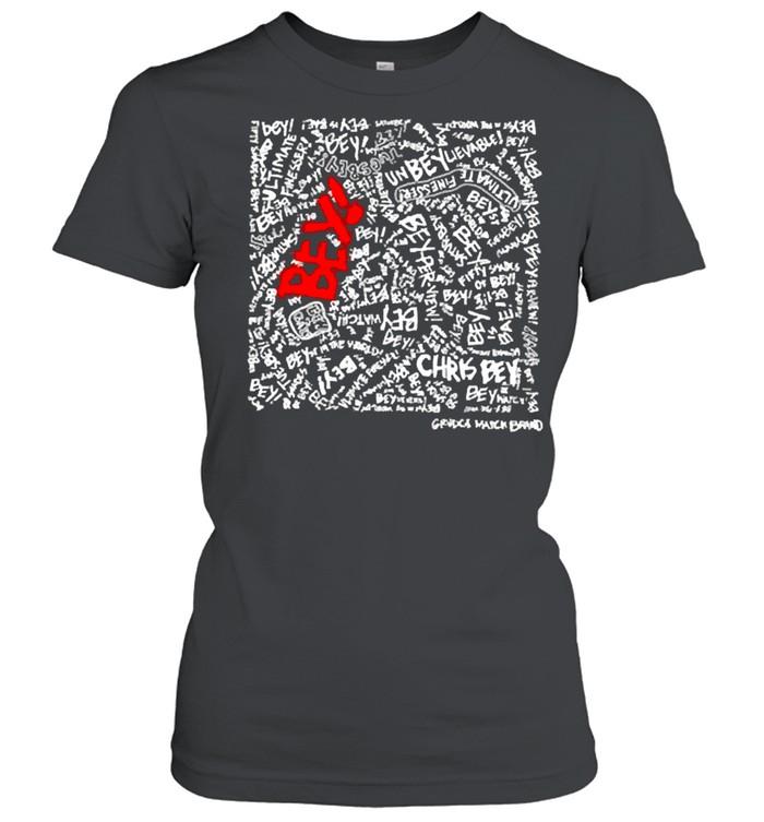 chris bey x grudgematchbrand misery beysiness shirt classic womens t shirt