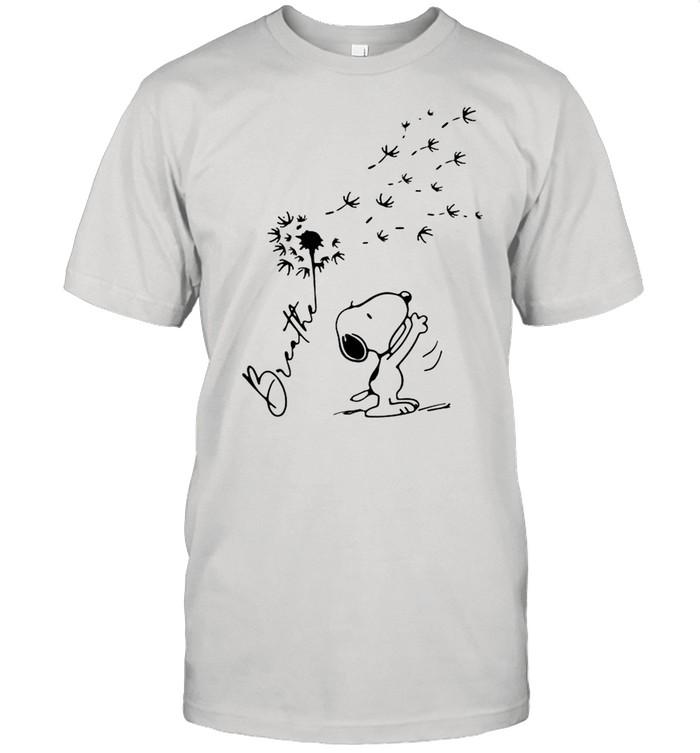 Breathe Snoopy Dandelion shirt Classic Men's T-shirt
