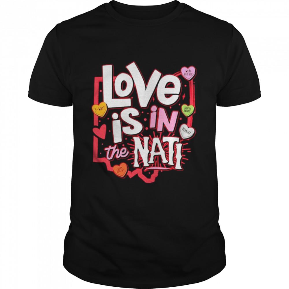 Love Is In The Nati 2021 Valentine shirt Classic Men's T-shirt