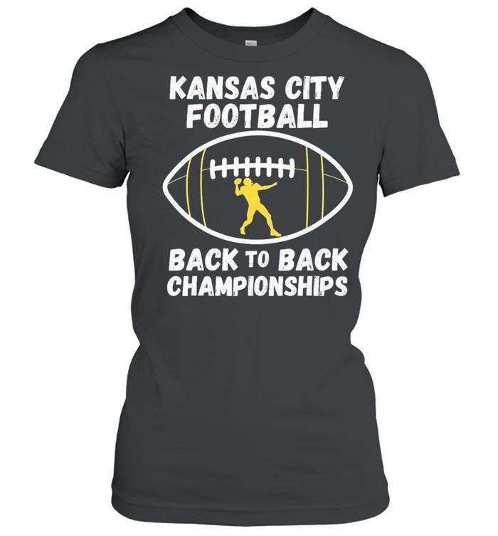 Kansas City Football Back To Back Championship 2021 shirt Classic Women's T-shirt