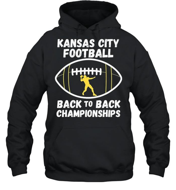 Kansas City Football Back To Back Championship 2021 shirt Unisex Hoodie