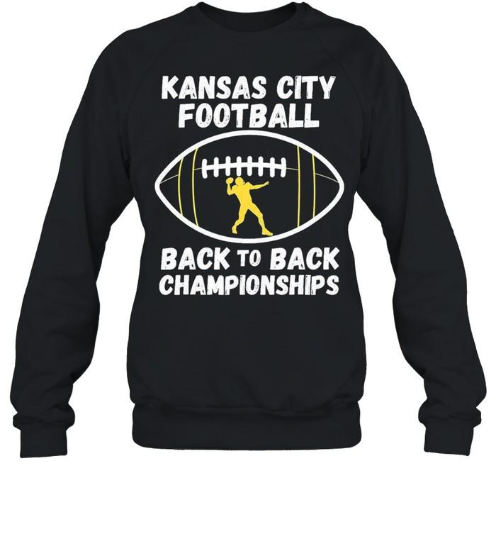 Kansas City Football Back To Back Championship 2021 shirt Unisex Sweatshirt