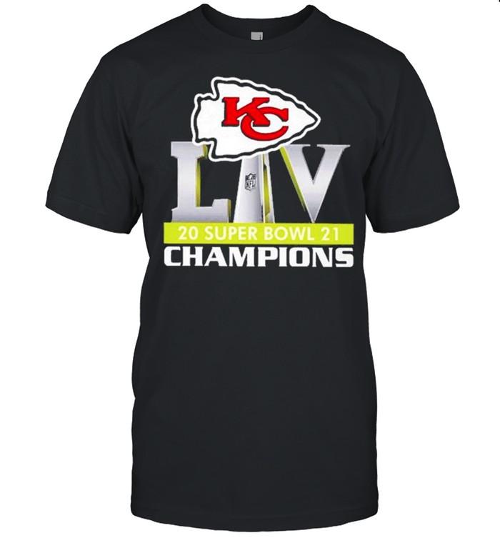 Logo Kansas City Chiefs Liv 2021 Super Bowl Champions shirt Classic Men's T-shirt