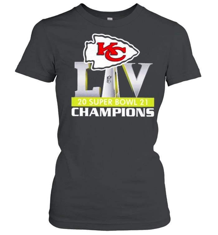 Logo Kansas City Chiefs Liv 2021 Super Bowl Champions shirt Classic Women's T-shirt