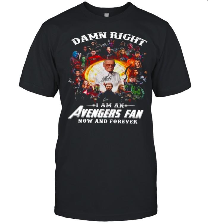 Marvel Avengers Damn Right Im An Avengers Fan Now And Forever 2021 shirt Classic Men's T-shirt