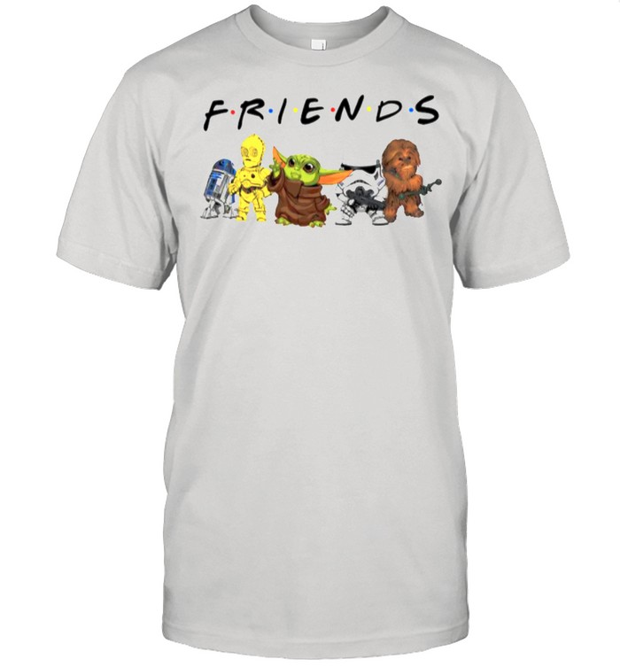 Star War Baby Yoda R2d2 Chewbacca Parappa Bot And Battlefront With Friends shirt Classic Men's T-shirt