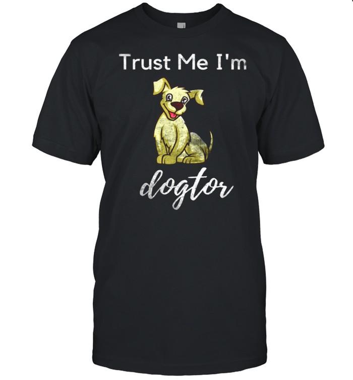 Dogtor Doctor Medical Pun Dog Animal Distressed shirt Classic Men's T-shirt