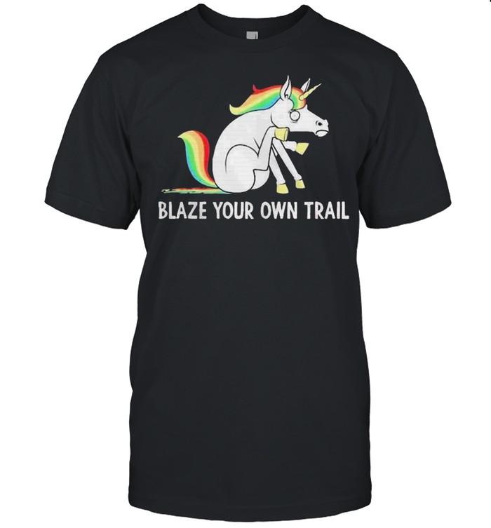 LGBT Unicorn blaze your own trail shirt Classic Men's T-shirt