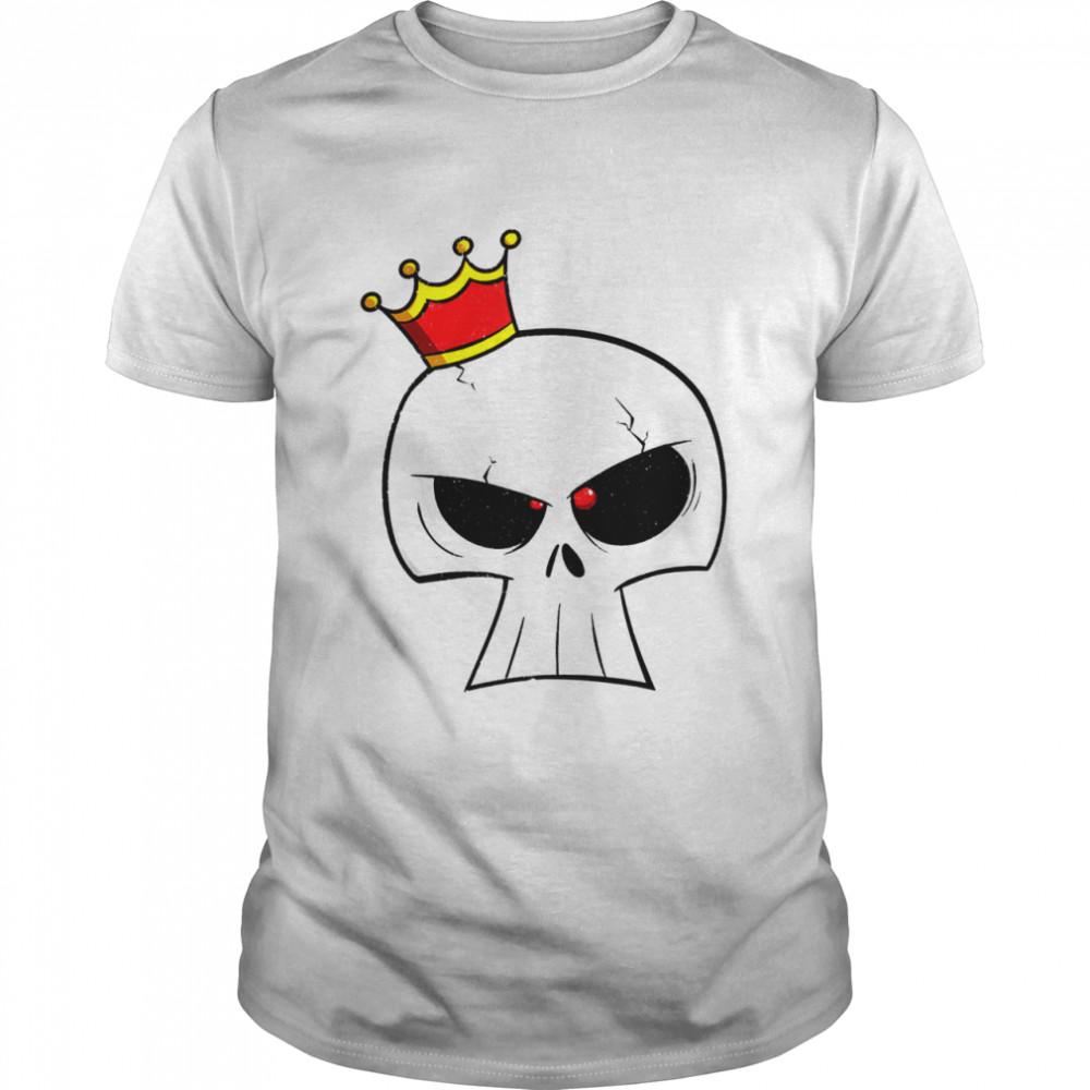 Retro 90s Japanese Kawaii Skull Hip Hop Crown Cartoon shirt Classic Men's T-shirt