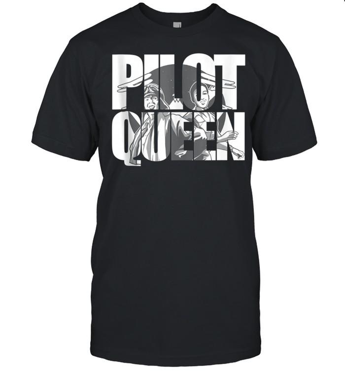 Pilot Queen Biplane Aviator's Prop Airplane Pilot shirt Classic Men's T-shirt