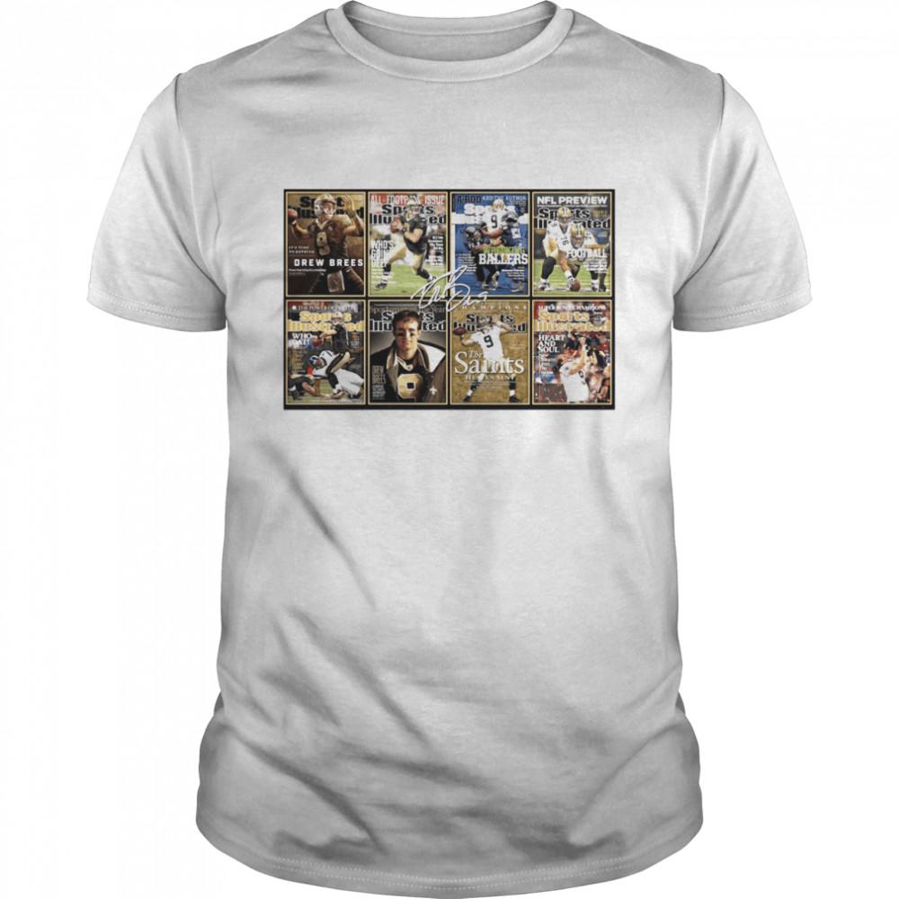 Drew Brees New Orleans Saint Signature Poster Tee shirt Classic Men's T-shirt