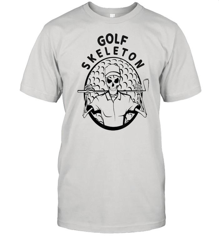 Skeleton Golfer Halloween Golfing shirt Classic Men's T-shirt