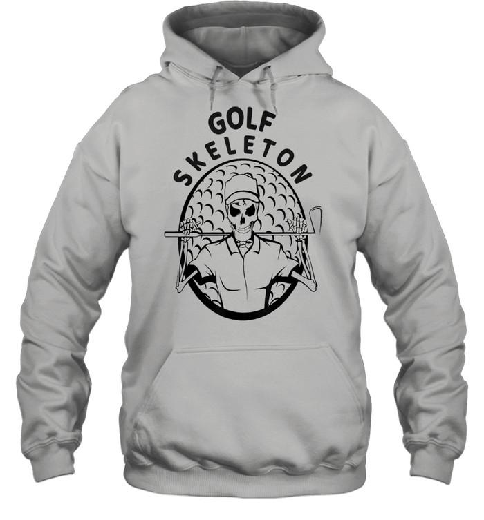 Skeleton Golfer Halloween Golfing shirt Unisex Hoodie