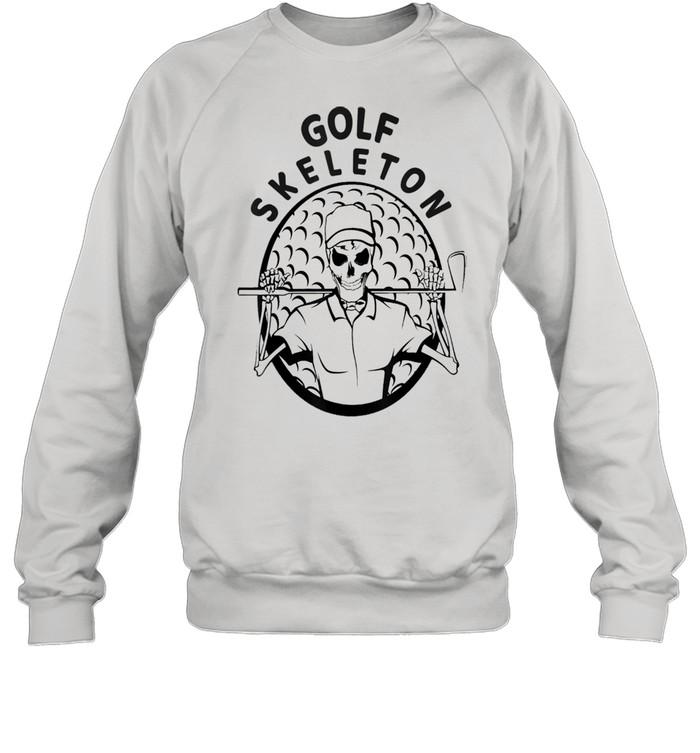 Skeleton Golfer Halloween Golfing shirt Unisex Sweatshirt