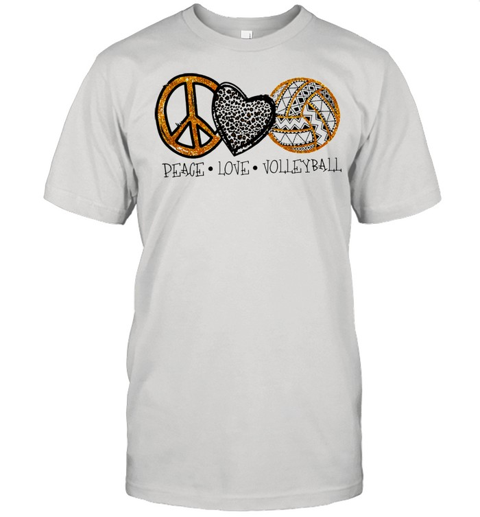 Peace love Volleyball shirt Classic Men's T-shirt