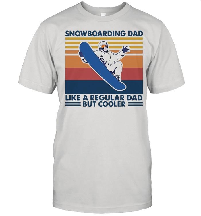 Snowboard Dad Like A Regular Dad But Cooler Vintage T-shirt Classic Men's T-shirt