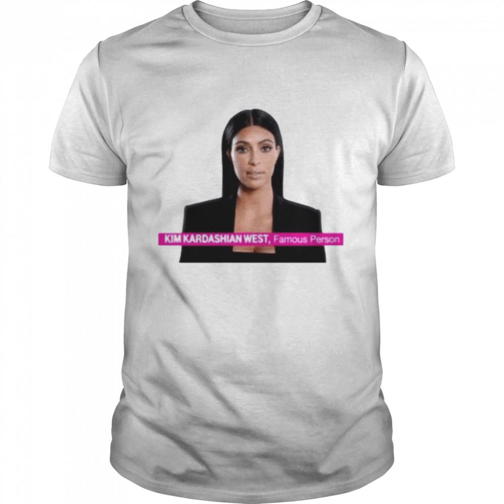 Kim Kardashian West famous person shirt Classic Men's T-shirt