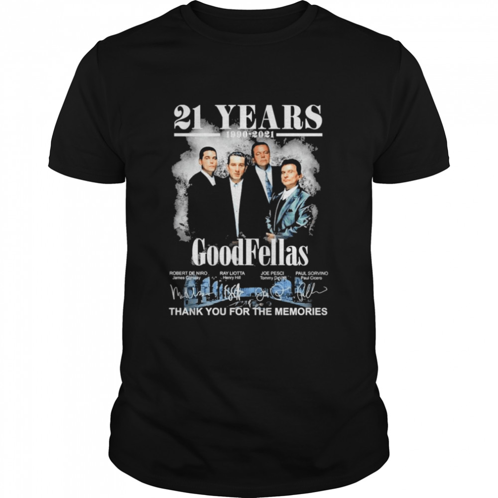 31 Years 1990 2021 Of The Goodfellas Signatures Thank You For The Memories shirt Classic Men's T-shirt