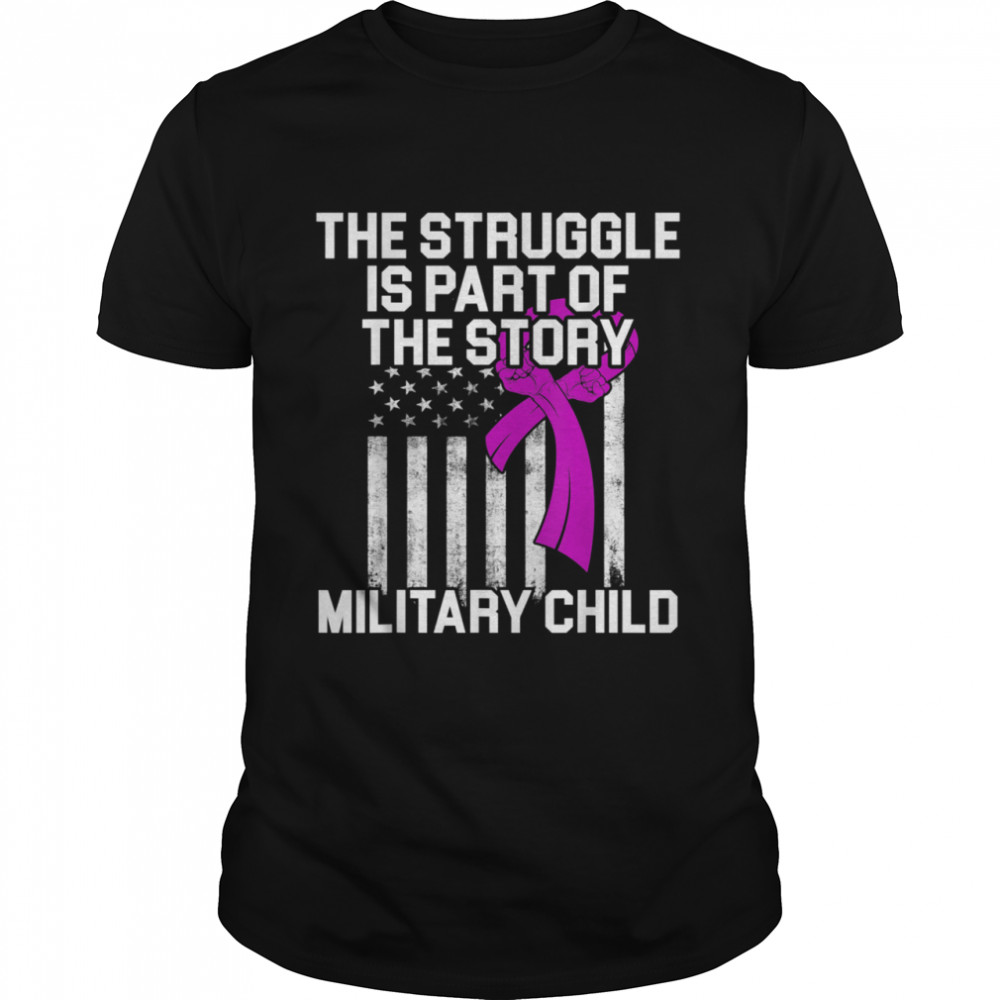 Military Child Month Purple Up Story shirt Classic Men's T-shirt