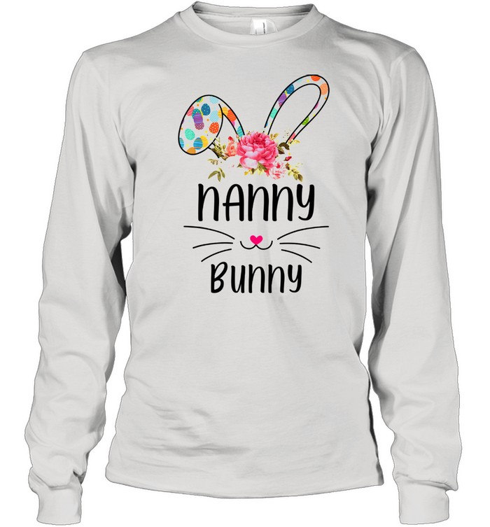 bunny floral happy easter day  long sleeved t shirt
