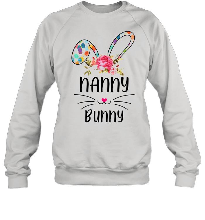 bunny floral happy easter day  unisex sweatshirt