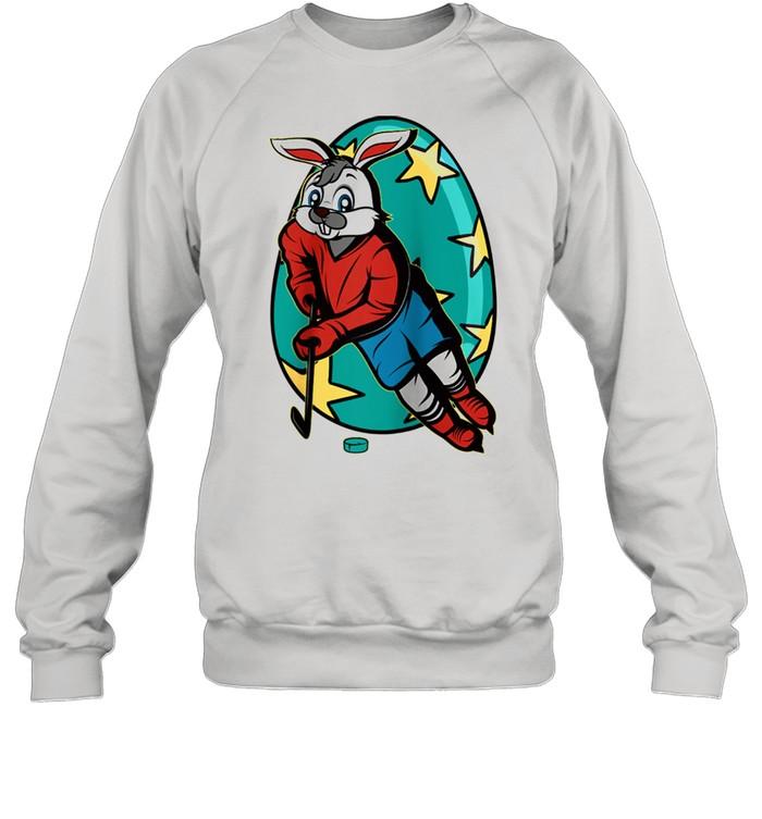 Bunny Ice Hockey Basket Stuffer Boys Girls Teens  Unisex Sweatshirt