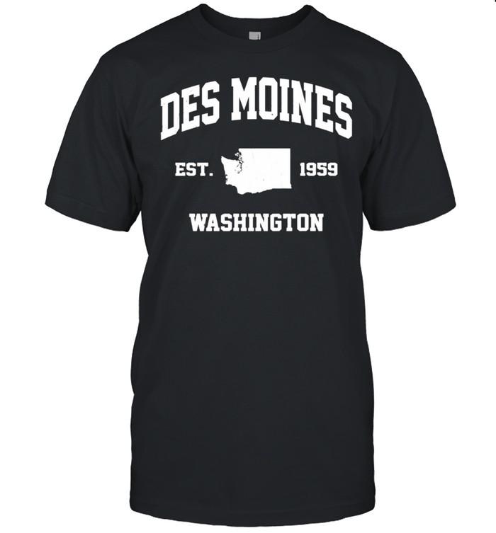 Des Moines Washington WA vintage state Athletic style shirt Classic Men's T-shirt