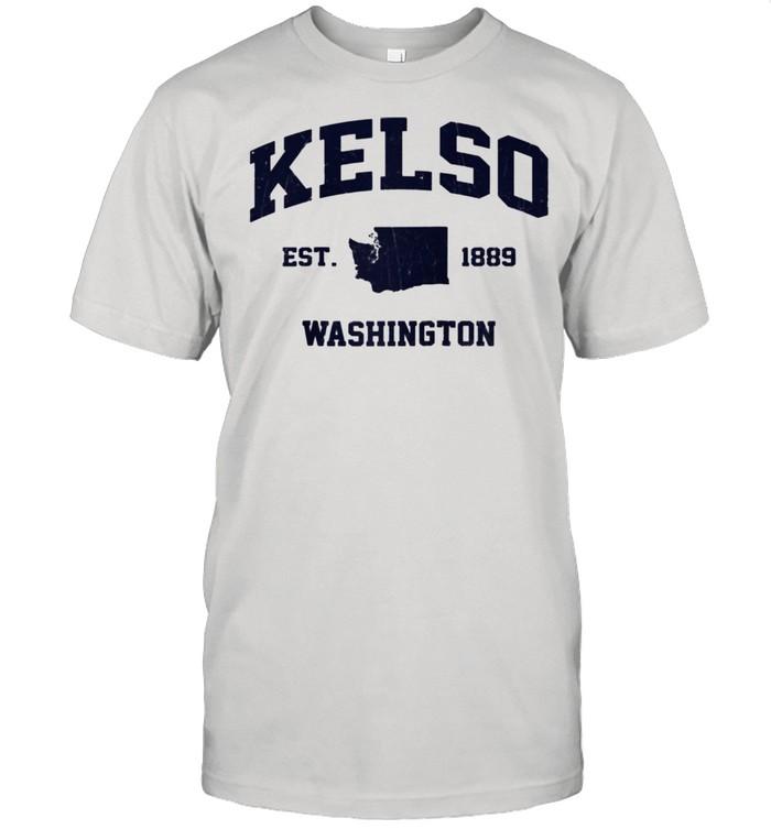 Kelso Washington WA vintage state Athletic shirt Classic Men's T-shirt