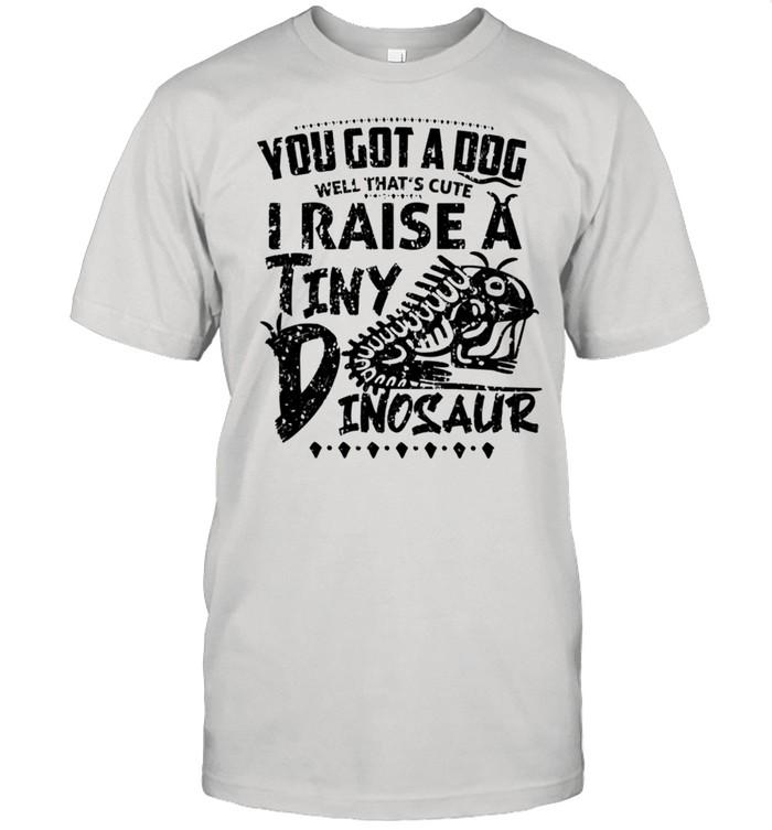 Retro Raise A Tiny Dinosaur Beard Dragon Pet Love  Classic Men's T-shirt