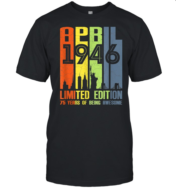 75 Years Old 75th Birthday Decoration April 1946  Classic Men's T-shirt