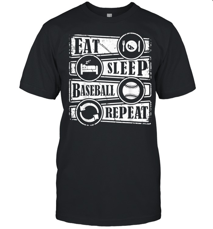 Eat Sleep Baseball Repeat Sports Baseball  Classic Men's T-shirt
