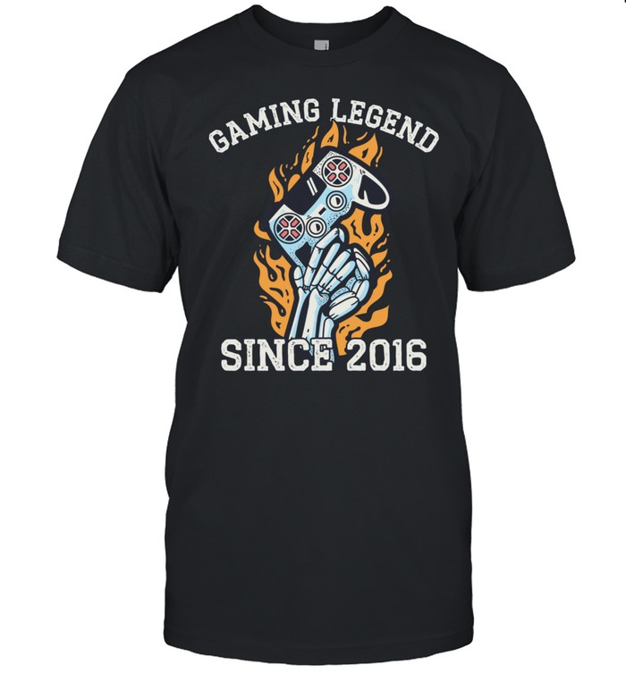 Gaming Vintage 5th Birthday 5 Year Old Boy Girl Gamer  Classic Men's T-shirt