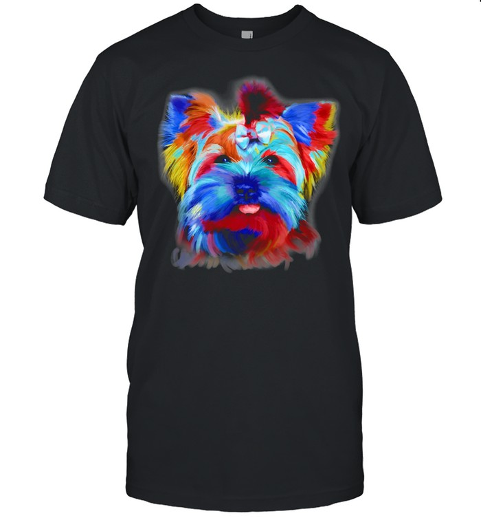 Yorkie Dog Puppy Hand Drawing  Classic Men's T-shirt