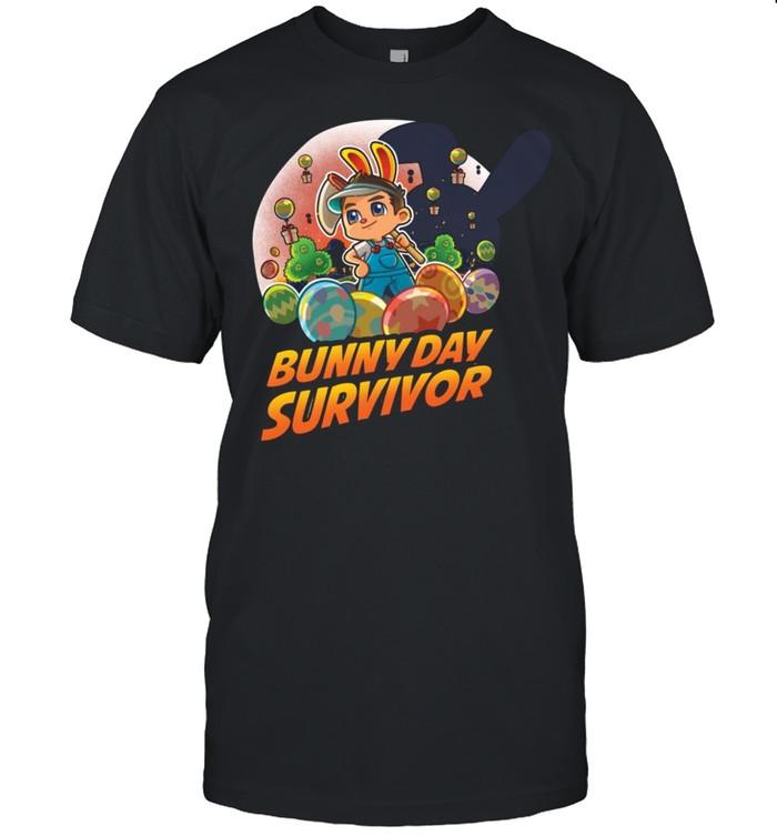Abdallah Smash Bunny Day Survivor Die-Cut T-shirt Classic Men's T-shirt