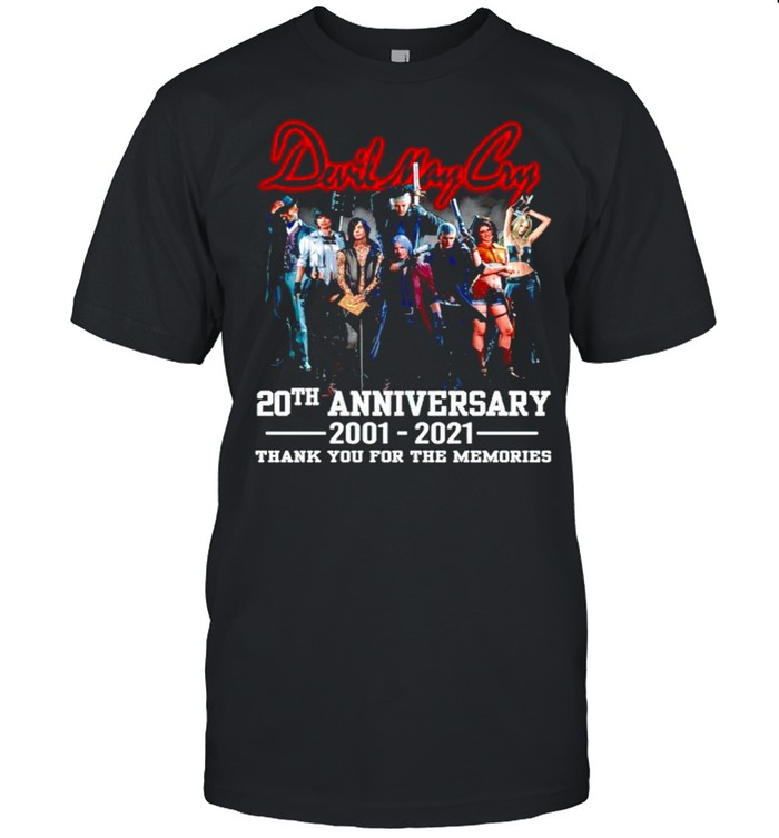 Devil May Cry 20th Anniversary 2001 2021 thank you for the memories shirt Classic Men's T-shirt