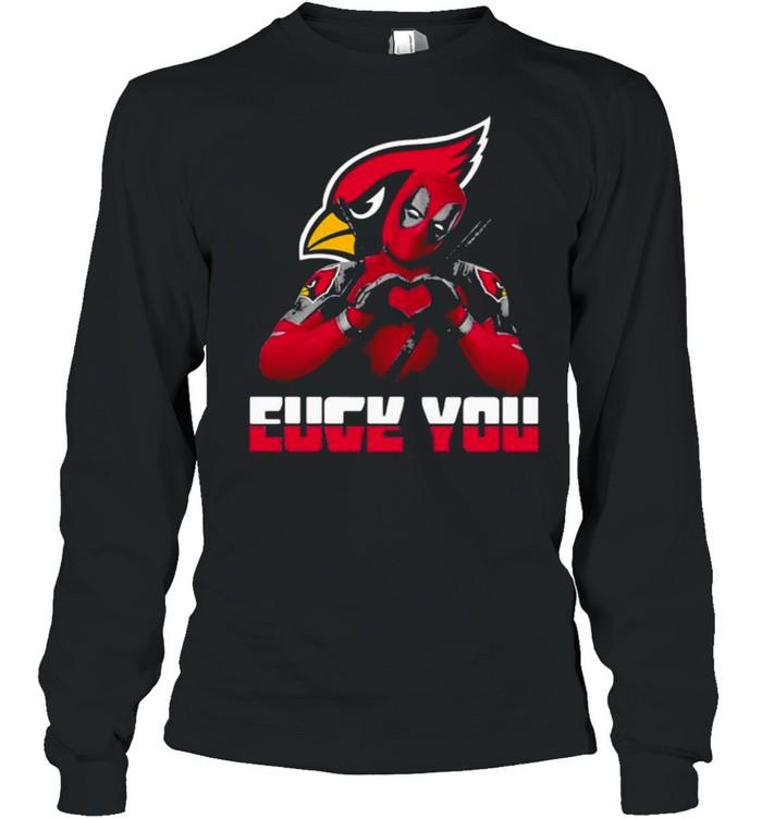 eucy you love deadpool arizona cardinals logo  long sleeved t shirt