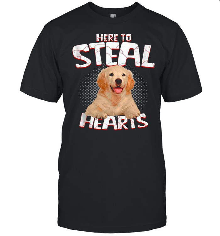 Golden Retriever Here To Steal Hearts shirt Classic Men's T-shirt