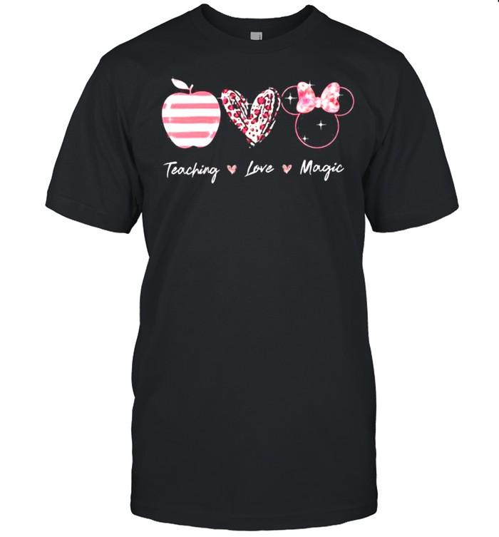Teaching Love Magic Apple Heart Leopard Disney  Classic Men's T-shirt