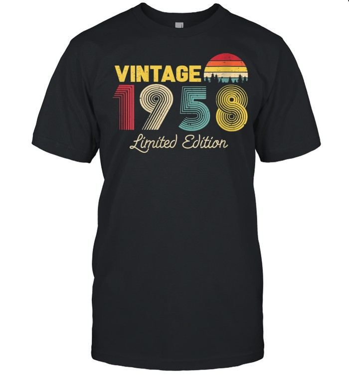 Womens Vintage Limited Edition 1958 63rd Birthday Vintage shirt Classic Men's T-shirt