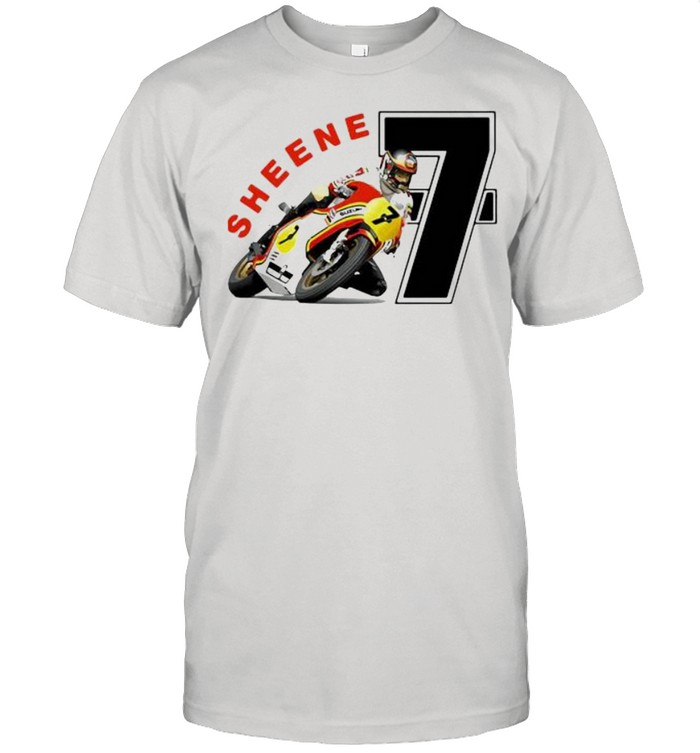 Sheene World Champion King Of The Mountain Motorcycle  Classic Men's T-shirt