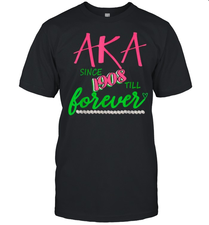 AKA Since 1908 Forever Alpha-Kappa Pink And Green Twenty Pearls  Classic Men's T-shirt