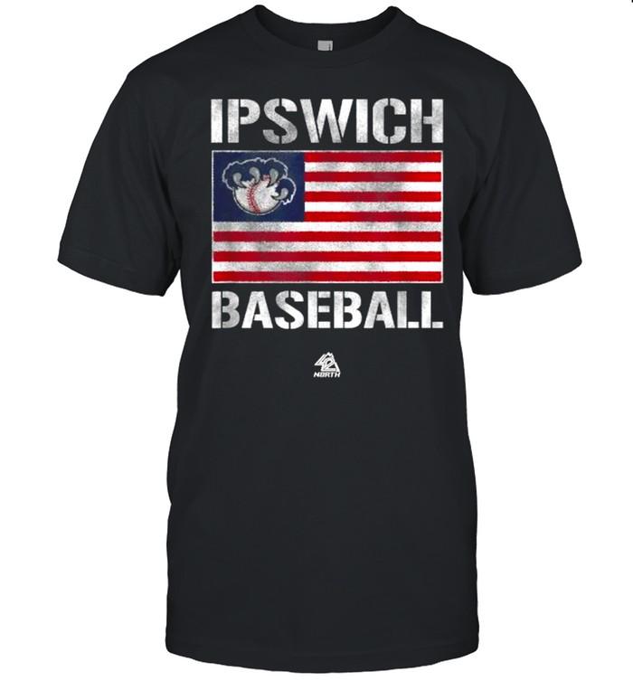 Ipswich Baseball Patriot American Flag  Classic Men's T-shirt