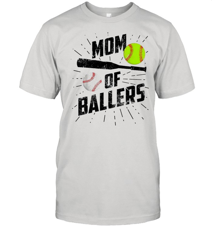 Mom Of Ballers Funny Baseball Softball Game Mothers Day Classic shirt Classic Men's T-shirt