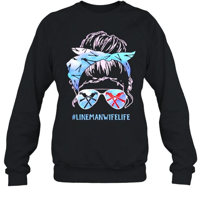 linemanwifelife girl  unisex sweatshirt