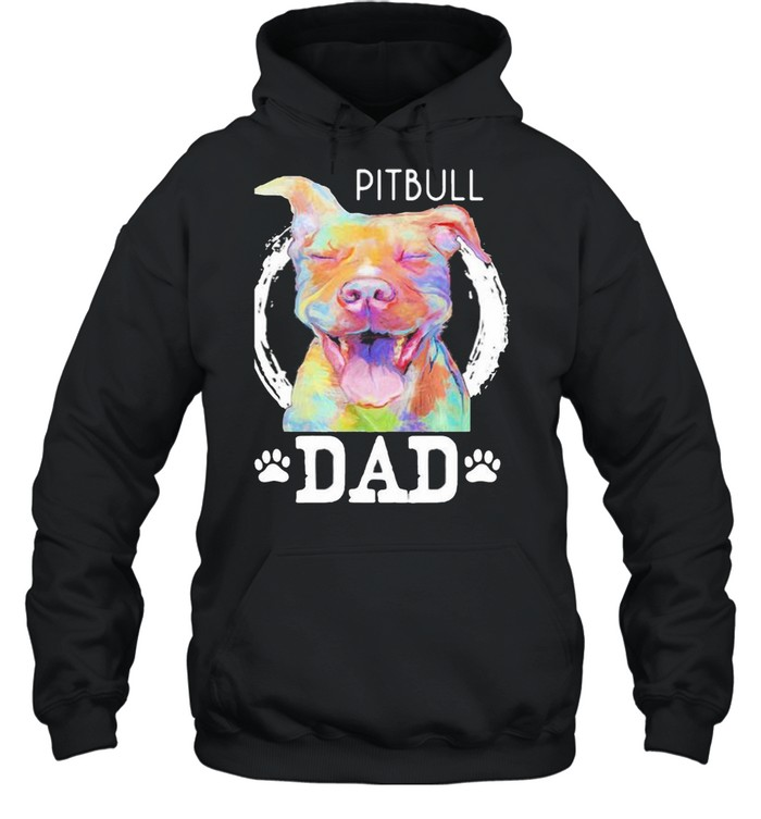 pitbull dad watercolor  unisex hoodie