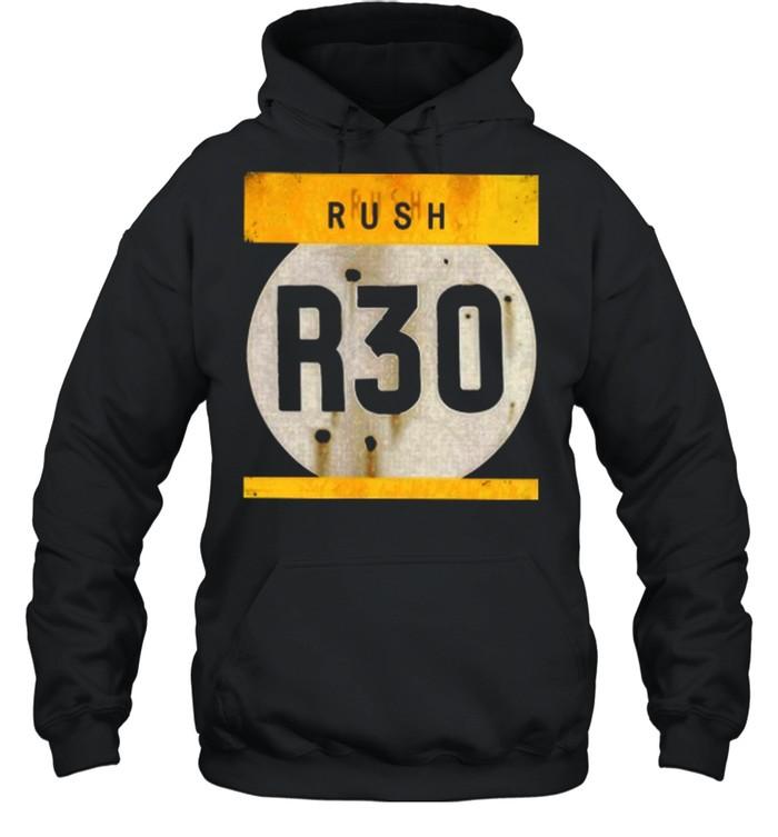 rush r30 shirt unisex hoodie