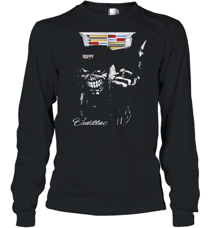 skull cadillac logo  long sleeved t shirt