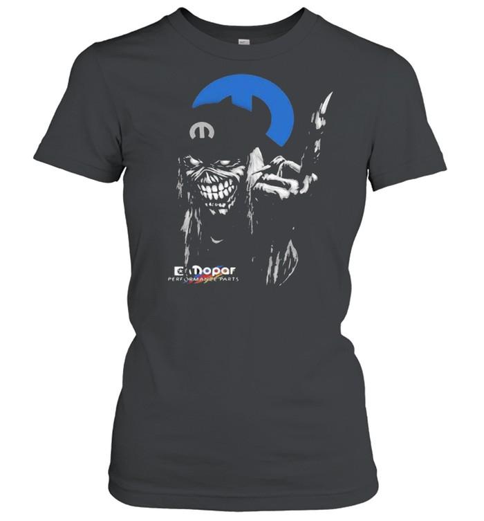 skull mopar performance cars logo  classic womens t shirt