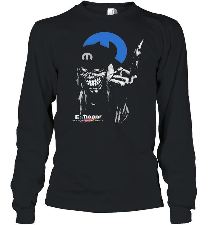 skull mopar performance cars logo  long sleeved t shirt
